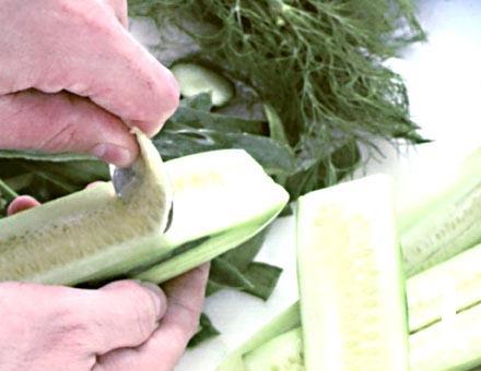 Preparacion de Salmón a la Mantequilla con Rábanos, Pepinos y Eneldo - Paso 1