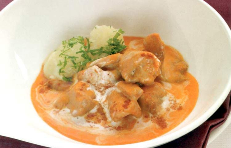 Receta de Cocina paso a paso: Bacalao con Salsa de Pimientos