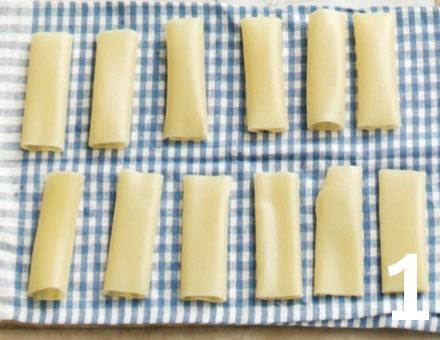 Preparacion de Canelones de Espinacas y Ricota - Paso 1