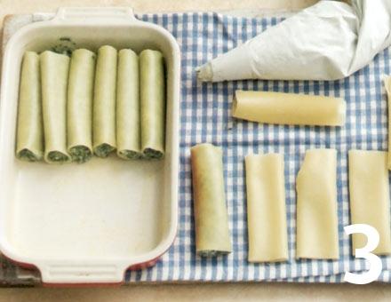 Preparacion de Canelones de Espinacas y Ricota - Paso 3