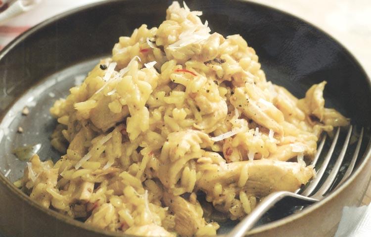 Receta de Cocina paso a paso: Risotto de Pollo con Azafrán