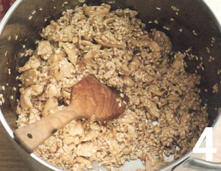 Preparacion de Risotto de Pollo con Azafrán - Paso 4