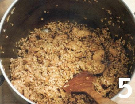 Preparacion de Risotto de Pollo con Azafrán - Paso 5