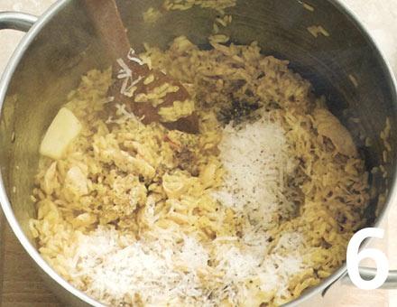 Preparacion de Risotto de Pollo con Azafrán - Paso 6
