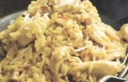 Preparación de Risotto de Pollo con Azafrán