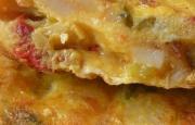 Preparación de Tortilla de Papas y Chorizo