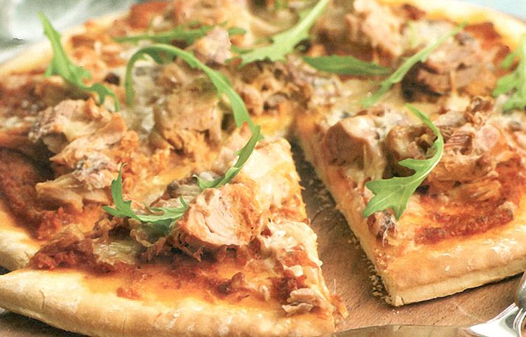 Receta de Cocina paso a paso: Pizza de Atún