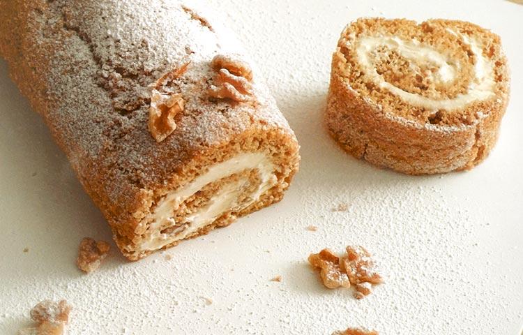 Receta de Cocina paso a paso: Brazo de reina de café con nueces