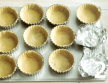 Preparacion de Mini Tartaletas de Berries - Paso 2