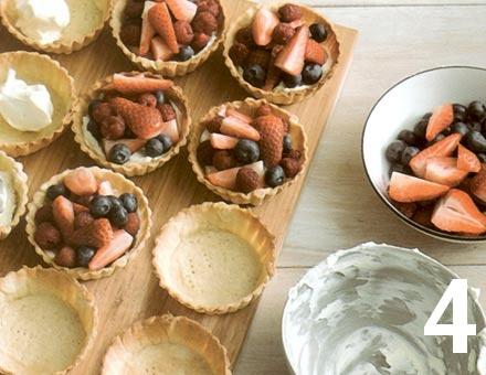Preparacion de Mini Tartaletas de Berries - Paso 4