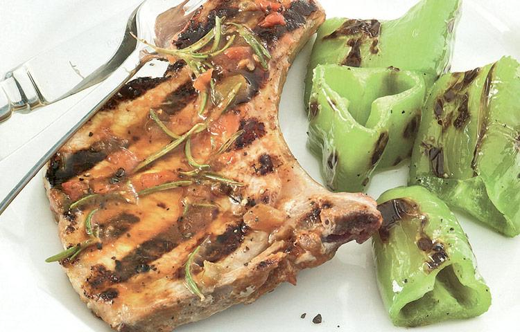 Receta de Cocina paso a paso: Chuletas de Cerdo a la Parrilla