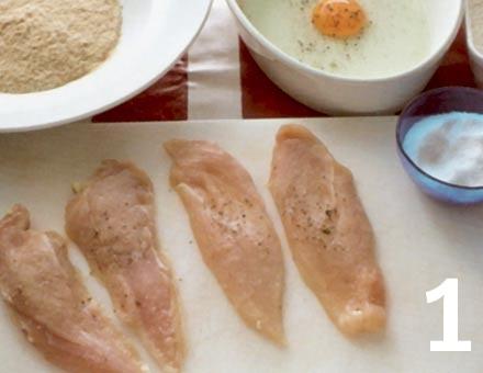 Preparacion de Escalopa de Pollo - Paso 1