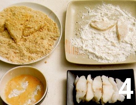 Preparacion de Pescado Apanado con Mayonesa Picante - Paso 4