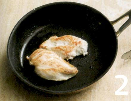 Preparacion de Pollo con Macarrones a la Crema - Paso 2