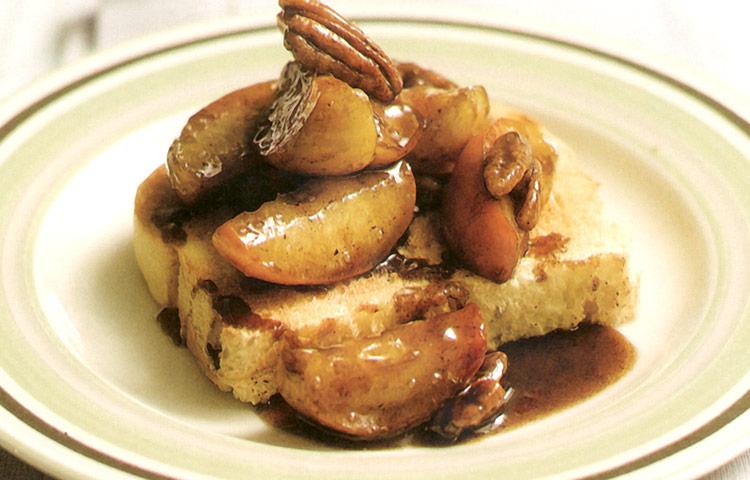 Receta de Cocina paso a paso: Manzana Caramelizada con Nueces