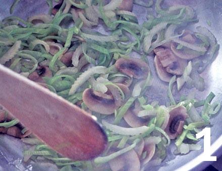Preparacion de Rodaballo al Vino Blanco con Champiñones - Paso 1