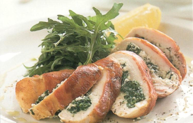 Receta de Cocina paso a paso: Pollo Relleno de Espinacas y Ricotta