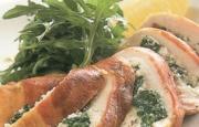 Preparación de Pollo Relleno de Espinacas y Ricotta