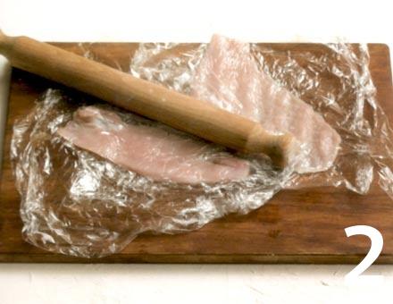 Preparacion de Filetes de Pavo con Jamón y Salvia - Paso 2