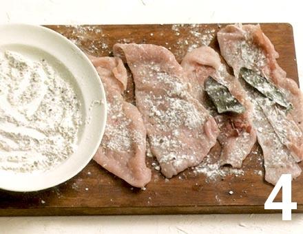 Preparacion de Filetes de Pavo con Jamón y Salvia - Paso 4