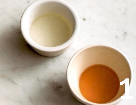 Preparacion de Syllabub de Vino Blanco y Miel - Paso 1