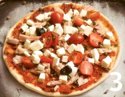 Preparacion de Pizza de Atún Rápida - Paso 3