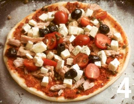 Preparacion de Pizza de Atún Rápida - Paso 4
