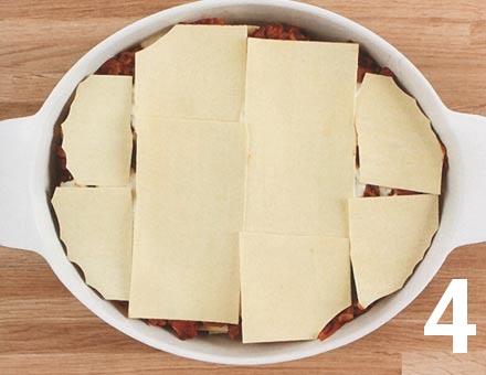 Preparacion de Lasaña con Salsa Boloñesa - Paso 4
