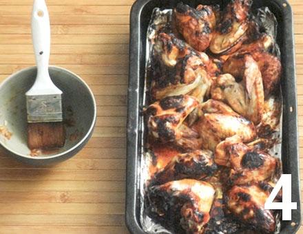 Preparacion de Alitas de Pollo con Jengibre y Soja - Paso 4