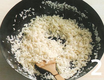 Preparacion de Arroz Frito con Huevo - Paso 2