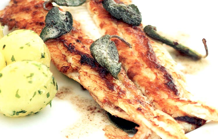 Receta de Cocina paso a paso: Lenguado a la Mantequilla de Salvia