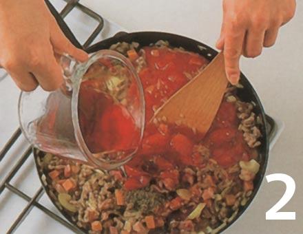 Preparacion de Espaguetis a la Boloñesa - Paso 2