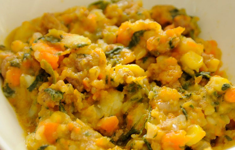 Receta de Cocina paso a paso: Charquicán
