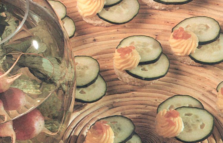 Receta de Cocina paso a paso: Canapés de Pepino