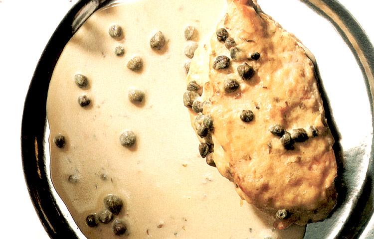 Receta de Cocina paso a paso: Pollo con Alcaparras