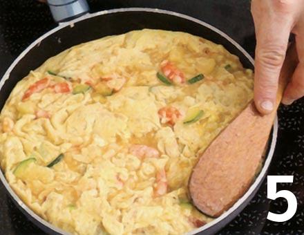 Preparacion de Tortilla Española - Paso 5