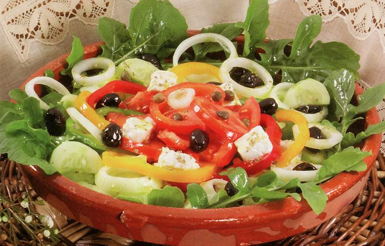 Receta de Cocina paso a paso: Ensalada Griega