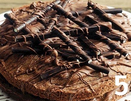 Preparacion de Bizcocho de Chocolate con Menta - Paso 5