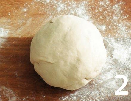 Preparacion de Receta de Cocina: Stromboli con Salchichón, Pimiento y Queso - Paso 2