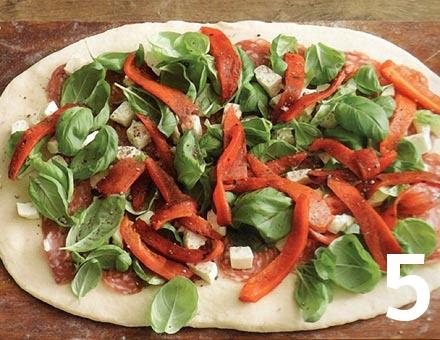Preparacion de Receta de Cocina: Stromboli con Salchichón, Pimiento y Queso - Paso 5