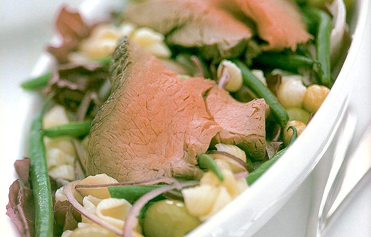 Receta de Cocina paso a paso: Rosbif en Ensalada