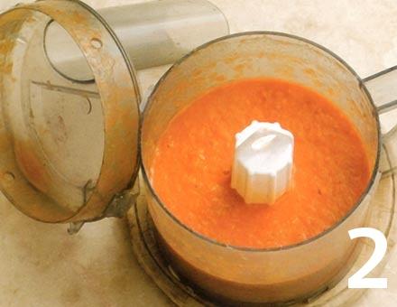 Preparacion de Receta de Cocina: Sopa de Tomate con Pasta - Paso 2