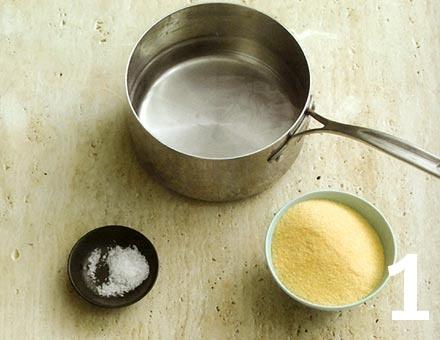 Preparacion de Receta de Cocina: Polenta Gratinada - Paso 1