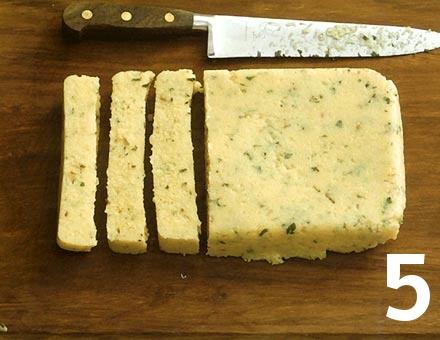 Preparacion de Receta de Cocina: Polenta Gratinada - Paso 5