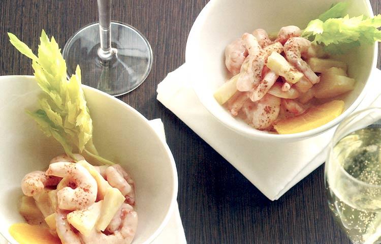 Receta de Cocina paso a paso: Cóctel de Camarones con Salsa Americana