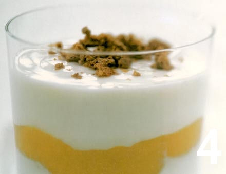 Preparacion de Receta de Cocina: Capricho de Yogurt con Jengibre y Durazno - Paso 4