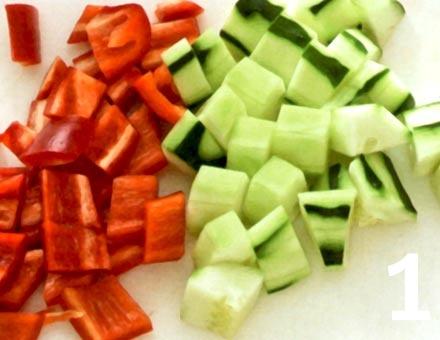 Preparacion de Receta de Cocina: Gazpacho - Paso 1