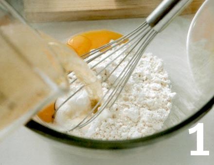 Preparacion de Receta de Cocina: Tempura de Zapallo Italiano - Paso 1
