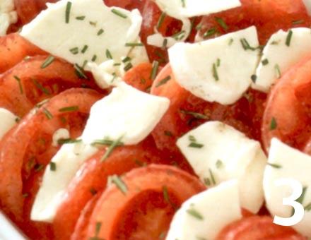 Preparacion de Receta de Cocina: Gratinado de Tomates y Mozzarella - Paso 3