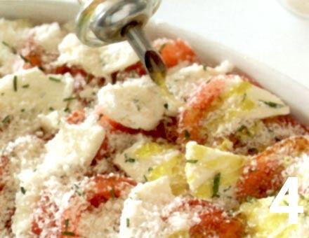 Preparacion de Receta de Cocina: Gratinado de Tomates y Mozzarella - Paso 4